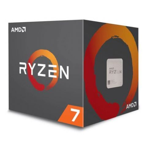 AMD Ryzen 7 2700 CPU with Wraith Cooler, AM4, 3.2GHz (4.1 Turbo), 8-Core, 65W, 20MB Cache, 12nm, RGB